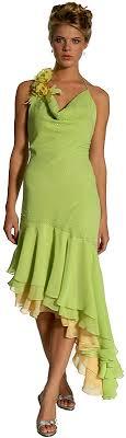 lime green formal dress