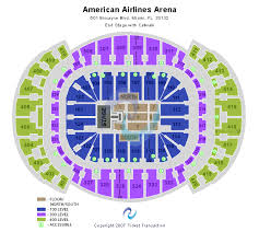 american airline arena seating chart