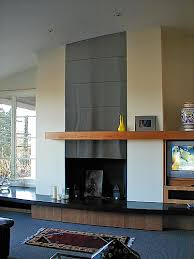 stainless steel fire place
