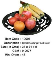 iron fruit bowl