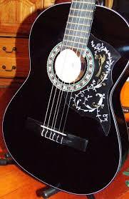 black classic guitar