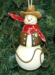 cowboy snowmen