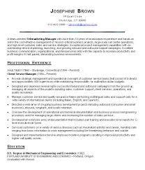 customer service sample resume