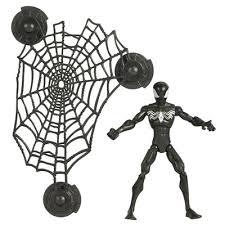 black spiderman figure