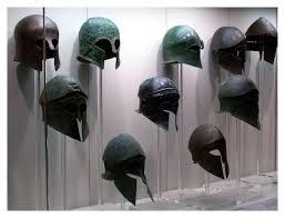 greek helmets