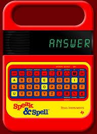 speak and spell toy