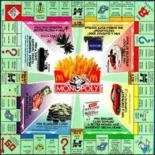 monopoly mcdonalds board