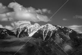 black and white mountain pictures