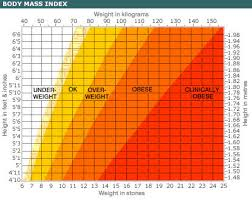 bmi chart for females