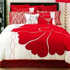 red floral sheets