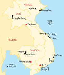 laos cambodia map