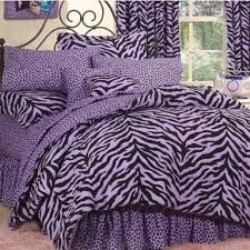 purple and blue bedding