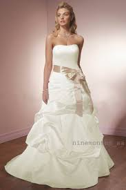 ivory strapless wedding dress