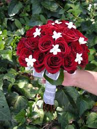 red rose wedding flowers