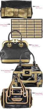 black and gold bags