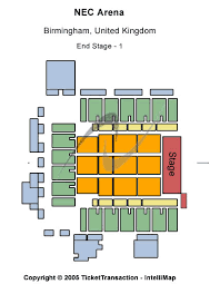 nec birmingham seating