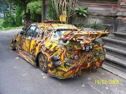 car in paint