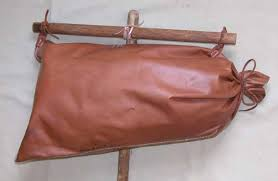 leather water bag