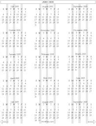 2008 2009 yearly calendar