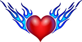 burning heart pictures