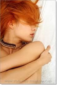 rudy kolor wlosow