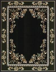 black and green rug
