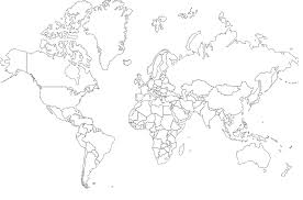 outline of a world map
