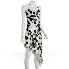 black and white halter dresses