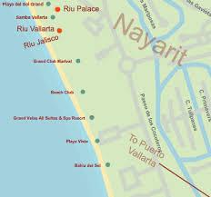 nuevo vallarta hotel map