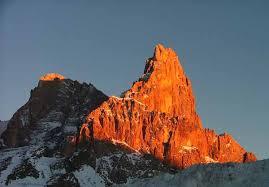 """tramonto%2520sulle%2520pale%2520di%2520san%2520martino Storie vere di montagna, """"Pale di San Martino due amici e una valanga """""""