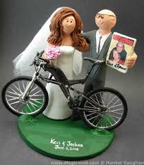 bicycle wedding cake toppers