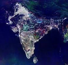 satellite map of india