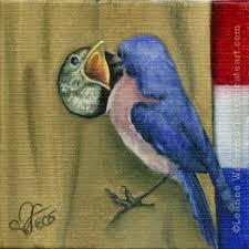 oil paintings of birds