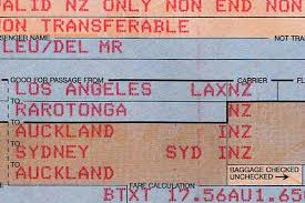 air new zealand ticket