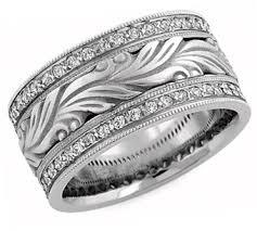 carved wedding ring