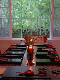 asian table setting