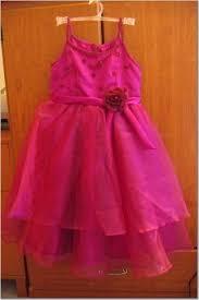 hot pink flower girl dress
