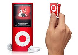 apple ipod shuffle red