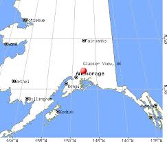 alaska glacier map