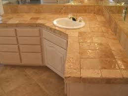 bathroom tile countertop