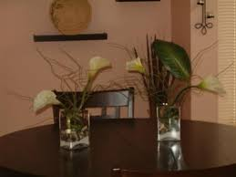 centerpieces with calla lilies