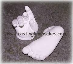 baby hand cast