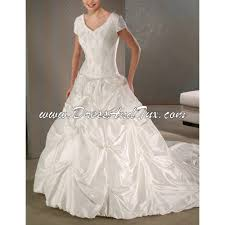 lds temple wedding gowns