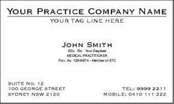business cards for doctors