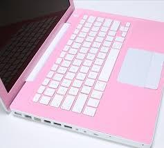 pink apple macintosh laptop