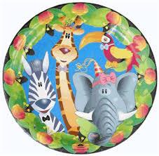 jungle party plates