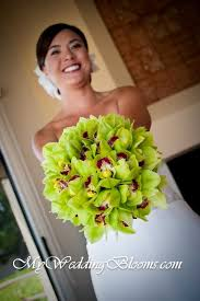 green cymbidium orchid bouquet