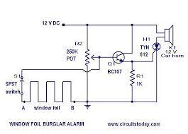 burglar alarm circuits