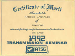 automotive certificate