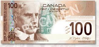100 dollar bill canada